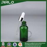 5ml 10ml 15ml 30ml 50ml 100mlの緑色のガラス点滴器のびんの空の精油のびん