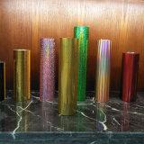 Goldfarbe, die Plastikfolie für das kosmetische Verpacken stempelt