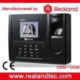 Realandの生物測定の指紋およびカードの時間出席の登記制度