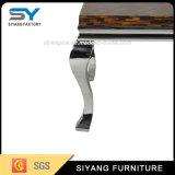 Tavolino da salotto moderno di vetro del blocco per grafici dell'acciaio inossidabile della mobilia dell'hotel