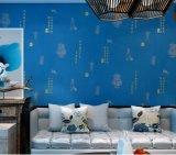 Papier peint chinois de plaisir de mousse rotatoire bleue d'écran de GBL