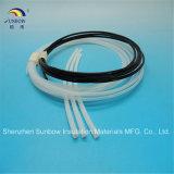 Identificación blanca del aislante de tubo 12m m Od 10m m del tubo del negro PTFE de Sunbow