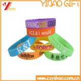 Kundenspezifischer bunter Debossed Entwurfs-SilikonWristband (YB-AB-009)