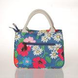Wasserdichte Belüftung-Retro Blumensegeltuch-Frauen-Handtasche (99181)