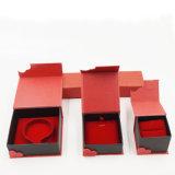 빨간 린트천 Flannelette 서류상 마분지 선물 상자 (J63-E1)