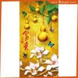 La pintura al óleo china impresa Digitaces de la calabaza y del Peony para la decoración del vestíbulo