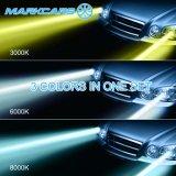 Markcars 3 Aanstekende LEIDENE van de Auto van de Wijzen van de Kleur Koplamp H11