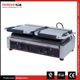 Chinzao Professional Manufactrer Commercial Double Head Panini Grill Grille-pain