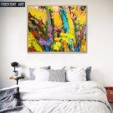 Gelber abstrakte Kunst-Farbanstrich für Haus