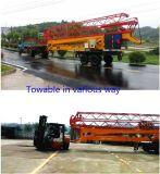 Grue à tour mobile pliable intrinsèque de la longueur 28m de potence de Genset de fabrication de poulie (MTC28065)