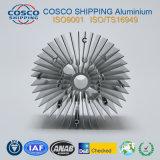 Konkurrierendes Aluminiumprofil für Kühlkörper mit dem anodisierenden und maschinell bearbeitenden Silber
