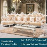 Type royal L sofa de cuir de forme pour les meubles à la maison (193)