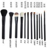 12 de PCs Geplaatste Wol van het Aluminium de Professionele Borstels van de Make-up