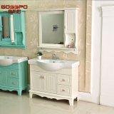 Le mur blanc a arrêté le Module de salle de bains en bois avec le miroir (GSP9-002)