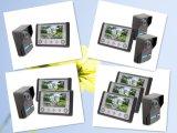 Sonnette visuelle de téléphone de porte d'interphone de 7 fils de pouce 4