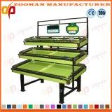 Изготовление Zhv22 стеллажа для выставки товаров фрукт и овощ супермаркета нержавеющей стали