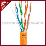 1000FT 스풀 Cat7 보호되고 좌절하는 SFTP 단단한 PVC 대량 이더네트 주황색 케이블
