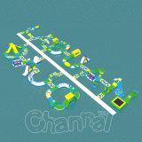 新しいデザイン空気堅い水ゲーム販売のための膨脹可能な水公園