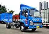 Camion medio del carico della Cina Sinotruk 4*2 Van Container Light