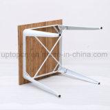 Woodentableの上(SP-CT675A)が付いているカフェテリアのレストランのための正方形の金属フレームの家具表