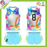 Voleibol profissional Sleeveless Jersey do Sublimation seco o mais novo do ajuste do estilo