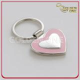 Формы сердца качества металл Keychain эмали Polished мягкий