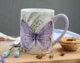 Tazza di caffè di ceramica all'ingrosso con il coperchio ed il coperchio del silicone