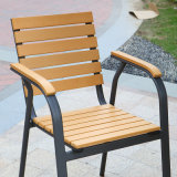 Patio Gaden Haupthotel-Büro AluminiumPolywood Tisch-und Arm-Stuhl (J805)