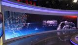 Afficheur LED mince superbe de fibre de carbone de pH3.9mm pour la station de télévision