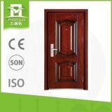 Diseños simples de la puerta principal del hierro de la seguridad de China