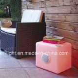 Música del control de Bluetooth que juega el cubo de la silla LED con color completo del altavoz LED RGB de Bluetooth