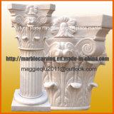 Piedra tallada blanca de mármol columna romana para la decoración del hogar