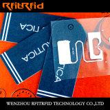Escritura de la etiqueta de la ropa de la etiqueta de la ropa RFID de RFID para la gerencia de inventario