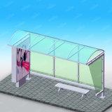 Lightbox를 가진 버스 대기소를 광고하는 옥외 버스 정류소