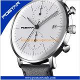 montre-bracelet duelle en verre voûtée de temps de caisse de l'acier inoxydable 316L
