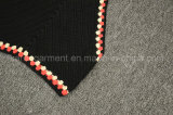 Верхняя часть урожая вязания крючком шеи Halter повелительниц черная