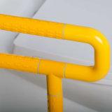Barre di gru a benna a forma di U rivestite montate Parete-Pavimento della toletta del nylon senza ostacoli