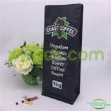 Sacchetti di caffè personalizzati della parte inferiore della casella 1kg con stampa nera