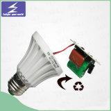 플라스틱 9W 알루미늄 E27 LED 전구