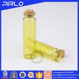 (10ml 20ml) 나무로 되는 코르크를 가진 Translucid 노란 색깔 관 유리제 작은 유리병