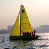 Barca a vela della vetroresina della chiglia di disegno del nuovo modello singola con l'albero dell'inclusione