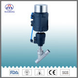 Válvula sanitária do assento do ângulo do aço inoxidável para o processamento da farmácia, do alimento e da bebida