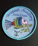 Het Geweven Kenteken van de Bevordering van het Ontwerp van de Vissen van Customerized Etiket