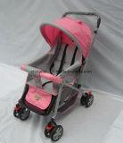 Panier de bébé standard européen pliant avec filet de moustiquaire et couverture de pied (CA-BB255)