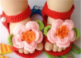 Малыш обуви вязания крючком руки связанный младенцем обувает ходоков 0-12m первых
