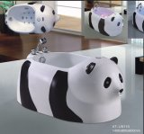BALNEARIO de la bañera del masaje de la dimensión de una variable de la panda con Ce y Special de RoHS para el bebé (AT-LW110)