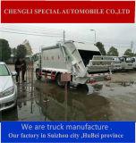 Camión de la basura Dongfeng 4X4 completa unidad de compresión