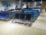 新しいデザインクッションD66#が付いている鋼鉄椅子の高品質の公立病院の訪問者の椅子3のSeater空港椅子