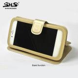 Couro universal do plutônio do silicone de Shs com a caixa do telefone de pilha do carrinho para Samsung S7