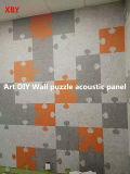 Panneau de plafond d'écran antibruit de panneau de mur de polyester de fibre de matériel acoustique de décoration